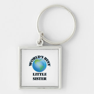 World's Best Little Sister Keychains