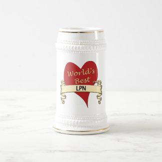 World's Best LPN 18 Oz Beer Stein