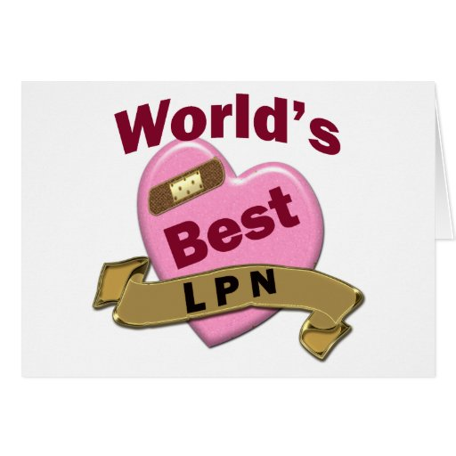 World's Best LPN Greeting Card