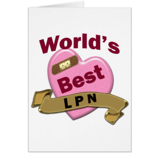 World's Best LPN Greeting Cards