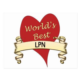 World's Best LPN Postcards