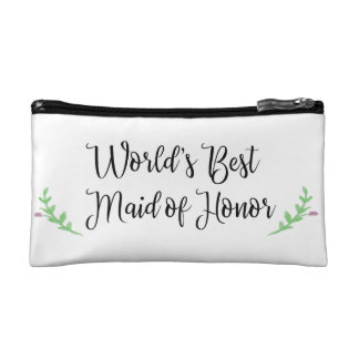 World's Best Maid of Honor Cosmetic Bag