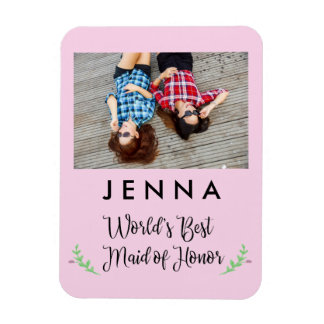 World's Best Maid of Honor Custom Photo Magnet