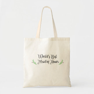 World's Best Maid of Honor Tote Bag