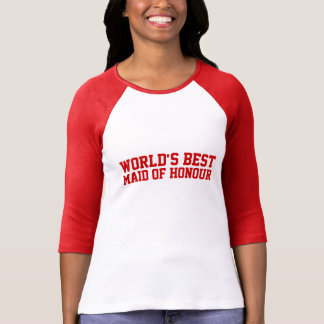 World's Best Maid of Honour UK Tshirts