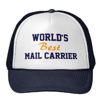 World's best mail carrier cap trucker hat