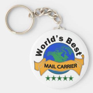 World's Best Mail Carrier Keychain