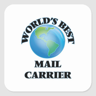 World's Best Mail Carrier Square Sticker