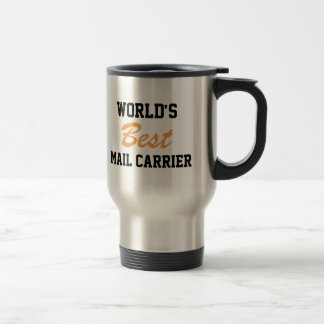 World's best mail carrier travel mug