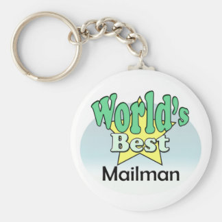 World's best mail man keychain