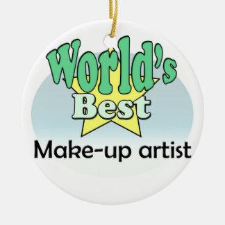 World's best make-up artist ceramic ornament