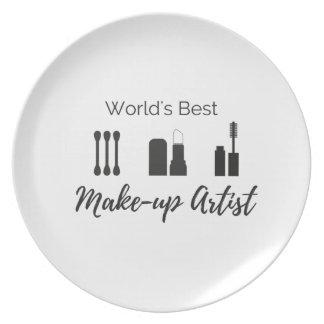 World's best Make-up Artist Plate