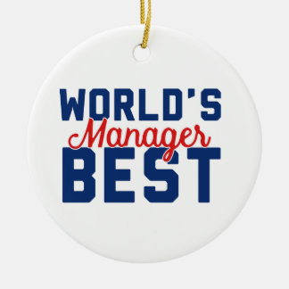 World's Best Manager Ceramic Ornament