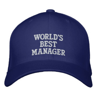 WORLD'S BEST MANAGER EMBROIDERED CAP EMBROIDERED HATS