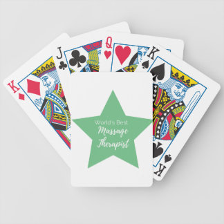 World's best Massage Therapist Bicycle Playing Cards