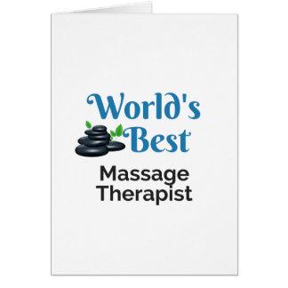 World's Best massage therapist Card