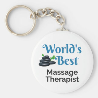 World's Best massage therapist Keychain