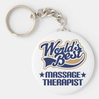 Worlds Best Massage Therapist Basic Round Button Keychain