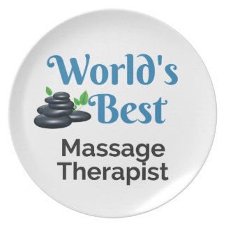 World's Best massage therapist Plate