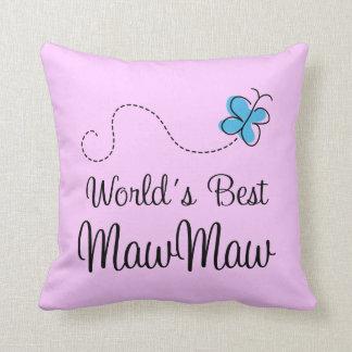 Worlds Best MawMaw Throw Pillow