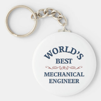 World's best Mechanical Engineer Basic Round Button Keychain