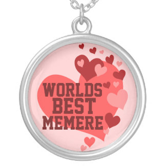 Worlds Best MeMere (or any name) Silver Plated Necklace