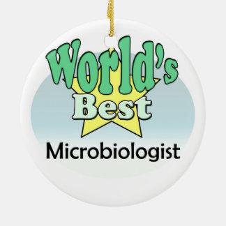 World's best Microbiologist Ceramic Ornament