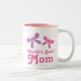 Worlds Best Mom Butterfly Mug Mothers Day Gift