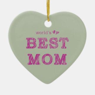 World's Best Mom Ceramic Ornament