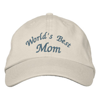 World's Best Mom Cute Embroidered Baseball Cap
