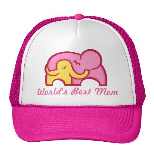World's Best Mom elephant cuddle hat