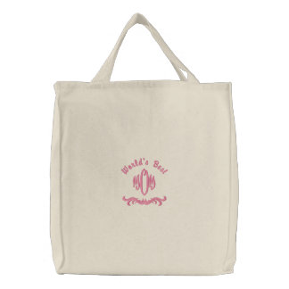 World's Best Mom - embroidered bag