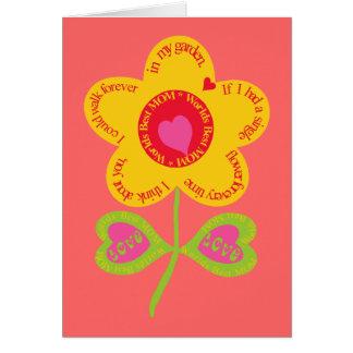 World's Best Mom Flower Card