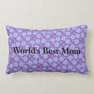 Worlds Best Mom Flower Power Lumbar Pillow