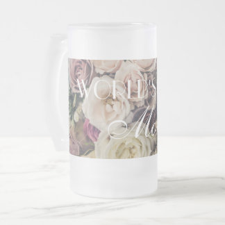 World's Best Mom Frosted Glass Beer Mug
