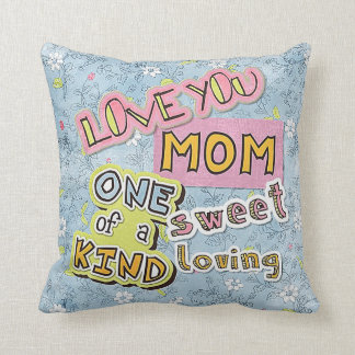 World's Best Mom I Love You Throw Pillow