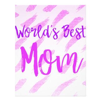World's Best Mom Letterhead Template