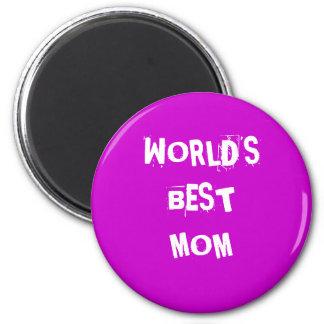 WORLD'S BEST MOM 2 INCH ROUND MAGNET