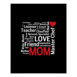 World's Best Mom - Mother's Day or Birthday Poster