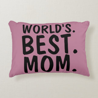 WORLD'S BEST MOM PILLOWS PINK