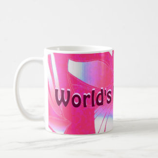 World's Best Mom pink Hawaiian print Coffee Mug