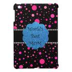 World's best mom pink polka dots iPad mini case