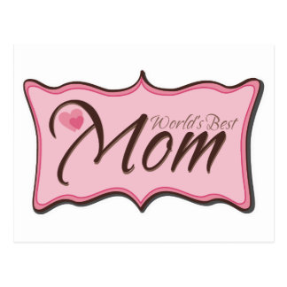 World's Best Mom Plaque Postcard