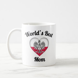 World's Best Mom Polish Coffee Mug