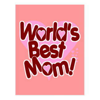 World's BEST Mom Post Card