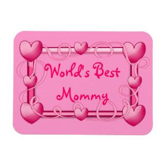 """""""World's Best Mommy"""" Heart Frame Magnet"""