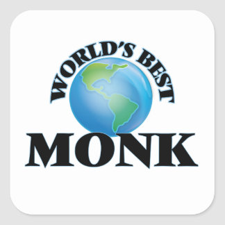 World's Best Monk Square Stickers
