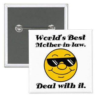 World's Best Mother-In-Law Humor 2 Inch Square Button