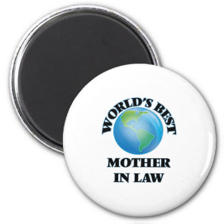 World's Best Mother-in-Law 2 Inch Round Magnet
