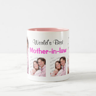 World's Best Mother-in-law Photo Mug Pink